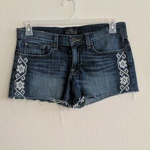 Lucky Brand Embroidered Cut Off Shorts - Size 4/27